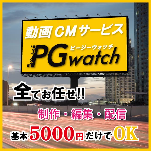 制作・編集・配信すべてお任せ。基本利用料だけで作る動画CM・PGwatch